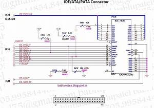 Bablu Notes  Ide  Ata  Pata Connector Circuit Diagram And Its Problem In Desktop Motherbaord
