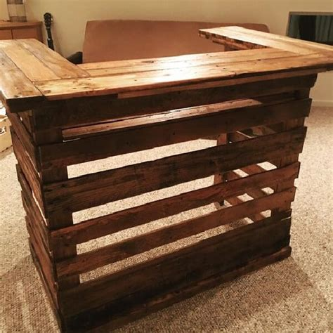 mobile kitchen island table diy bar projects for wooden pallets ideas with pallets