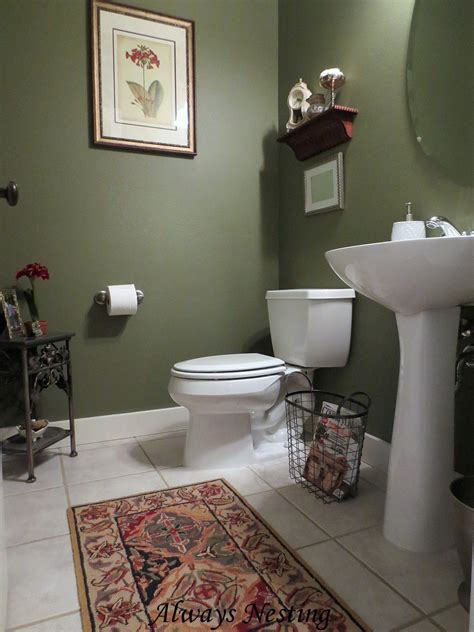 Bathroom Decor Color Schemes by I Like The Contrast Of The Green And White Bathroom In