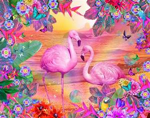 Tropical Flamingo Digital Art by Alixandra Mullins