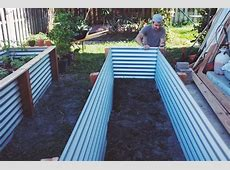Corrugated Raised Garden Bed Plans Gardening Flower And