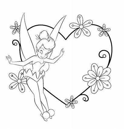 Tinkerbell Coloring Tinker Pages Bell Printable Christmas