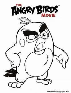 Angry Birds Movie Red Coloring Pages Printable