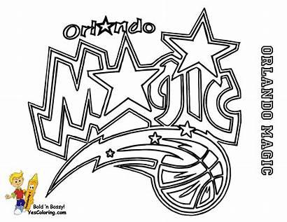 Coloring Basketball Pages Sheets Printable Magic Orlando