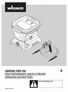 Wagner Control Pro 150 Operating Instructions Manual Pdf