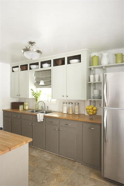 color top  bottom kitchen cabinets white