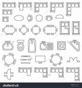 Electrical House Plan Symbols Nz : standard furniture symbols used in architecture plans ~ A.2002-acura-tl-radio.info Haus und Dekorationen