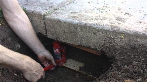 Lifting A Sunken Concrete Driveway Slab Diy Doovi