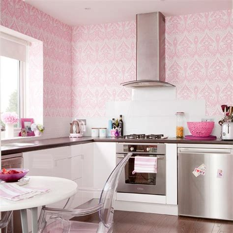 pink girly kitchen wallpaper kitchen wallpaper ideas