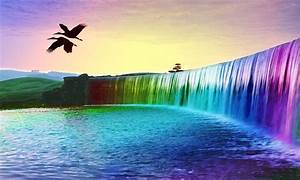 Beautiful Rainbow Waterfall Nature HD Wallpapers Free ...