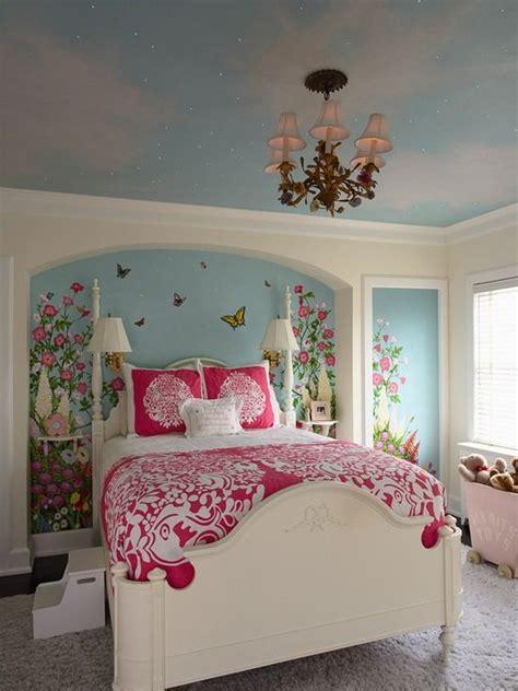 Kinderzimmer Dekoration Decke by Kinderzimmer M 228 Dchen Wandgestaltung Wandbilder Bett Wei 223