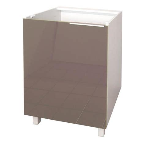 caisson cuisine bas 60 cm pop meuble bas de cuisine 60 cm taupe haute brillance achat vente elements bas caisson