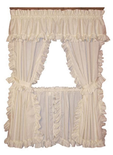 cape cod framed ruffled curtains w ties