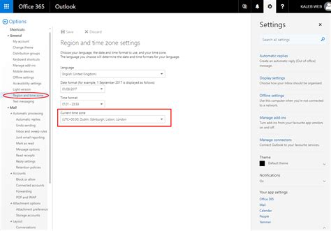 Office 365 Portal Time Zone by How To Update Or Change Your Office 365 Account S Time