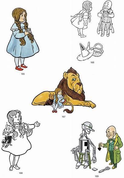 Wizard Oz Illustrations Denslow Clip Dorothy Digital
