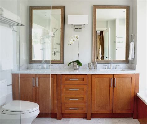 Luxury vanity mirrors by aptations (formerly kimball & young). double vanity mirror bathroom contemporary with metal ...