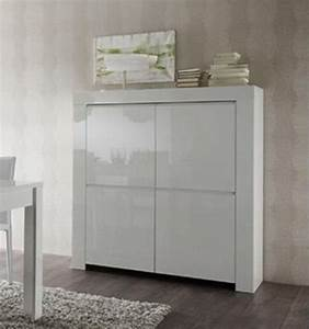 Meuble 25 Cm De Profondeur : meuble de rangement moderne blanc laqu 4 portes trendy ~ Edinachiropracticcenter.com Idées de Décoration