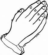 Praying Hands Coloring Pages Prayer Hand Printable Outline Colouring Children Symbols Christian Clipart Template Sheets Open Bible Pray Drawing Colour sketch template