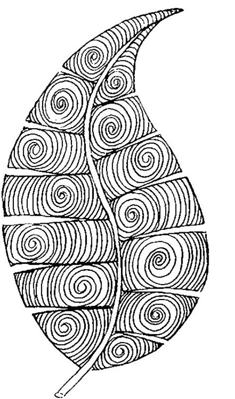 art therapy coloring page autumn leaf