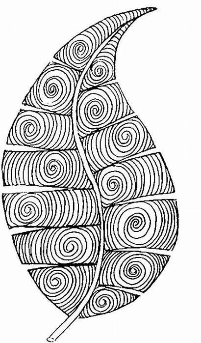 Coloring Colorear Automne Coloriage Otono Hoja Mandala