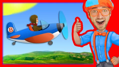 airplane song for blippi nursery rhymes 337 | maxresdefault