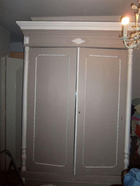 relooking chambre armoire relookée les créations de scrapochat