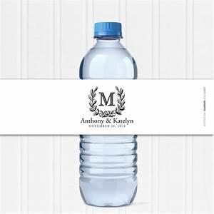 wedding water bottle labels custom water bottle labels With custom water bottle wraps