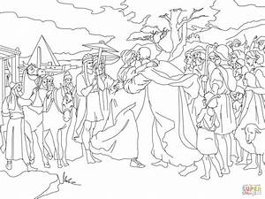 Joseph Meet Jacob coloring page | Free Printable Coloring ...