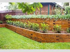 Landscape Timber Retaining Wall — Farmhouse Design and