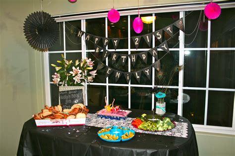 21st birthday decorations chagne taste shoestring budget 21st birthday