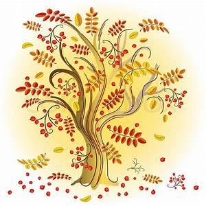 Baum Mit Roten Blättern : zusammenfassung herbst baum mit bunten bl ttern und roten vektorgrafik colourbox ~ Eleganceandgraceweddings.com Haus und Dekorationen