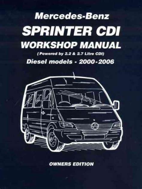 mercedes benz sprinter cdi diesel   workshop