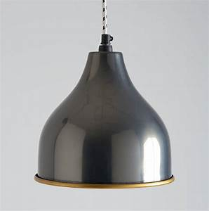 Black nickel pendant light by horsfall wright