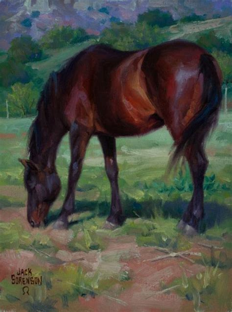 Canyon Pasture ~ Horse Painting By Jack Sorenson Art