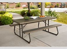 Lifetime Brown Plastic Folding Picnic Table 10Pack on