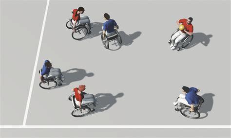 jeux de fauteuil roulant sport en fauteuil roulant exercices de base pour jeux d 233 quipe lutte pour la balle