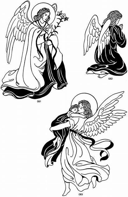 Dover Christmas Clip Angel Coloring Pages Angels