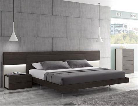 maia wenge premium queen platform bed  headboard