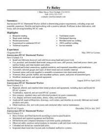 hvac resumes entry level technician resume journeymen