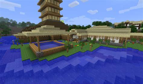 asian style bath house minecraft map