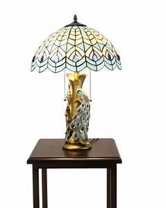Tiffany, Night, Stand, Lamp, Tiffany, Tabletop, Light, Fixture
