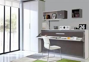 Lit Escamotable Armoire : lit escamotable santiago secret de chambre ~ Premium-room.com Idées de Décoration