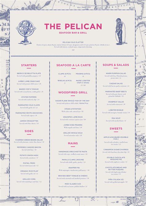 art   menu  pelican