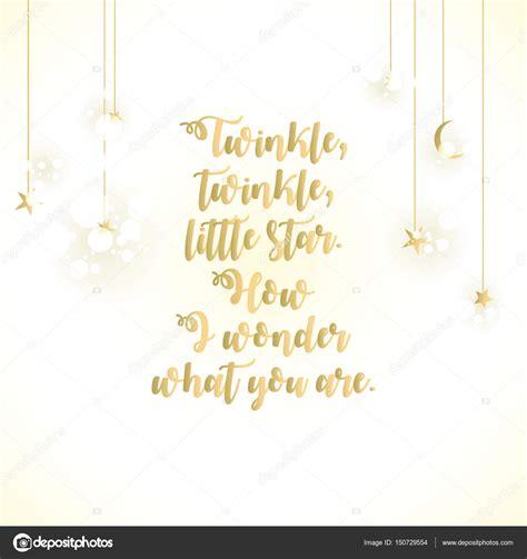 twinkle twinkle  star lettering card stock photo