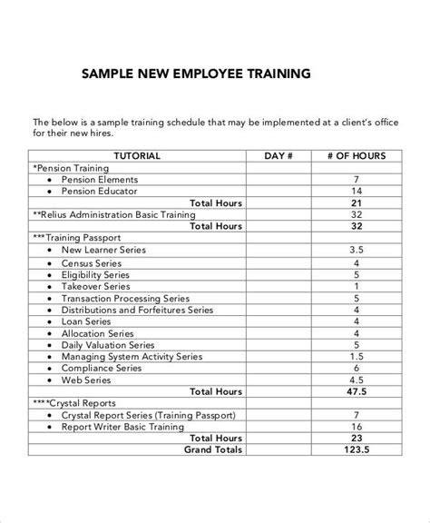 help desk training manual template 5 employee training plan templates free sles