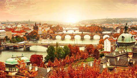 prague cityscape  autumn  ultra hd wallpaper