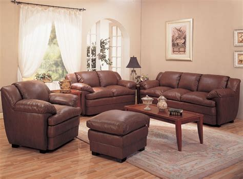 leather livingroom set alondra leather living room set in brown sofas