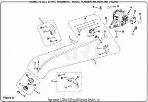 Homelite Ut22650 26cc String Trimmer Parts Diagram For