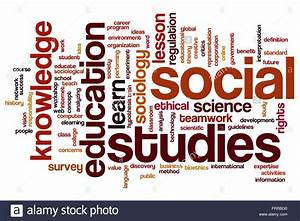 Social studies concept word cloud background Stock Photo ...