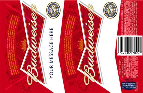 budweiser beer canbottle labels cake topper  matching